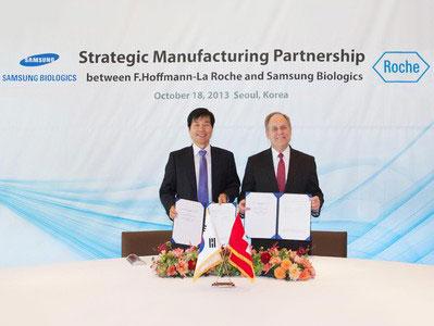 三星生物制剂公司与罗氏制药签署合作伙伴协议